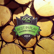 GDC Play - Best In Play Honorable Mention 2013